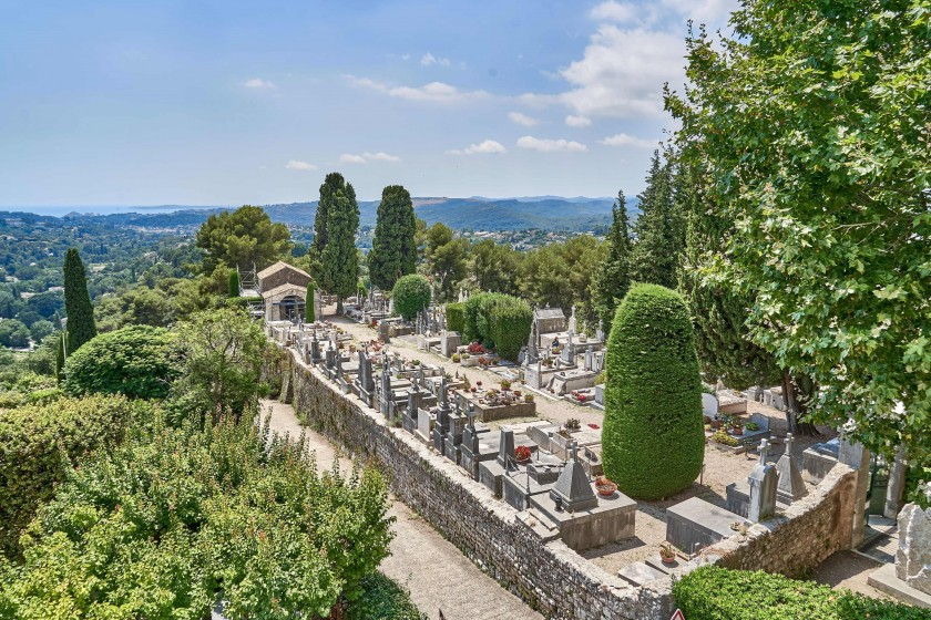 cemetery where Marc Chagall is buried
