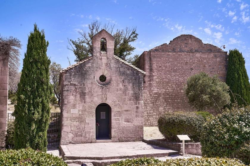 The Chapel of Saint Blaise on the ground of Chateau de Baux
