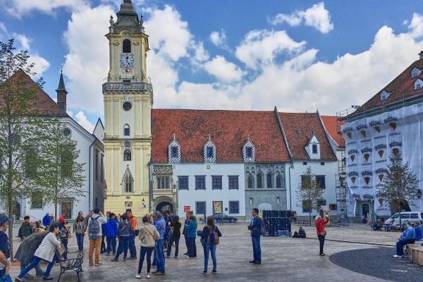 Main square of Bratislava Old Town