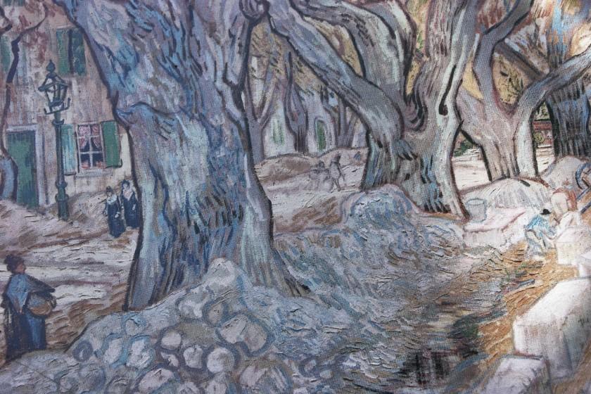 Van Gogh's village street scene; Van Gogh Trail in Saint-Rémy-de-Provence