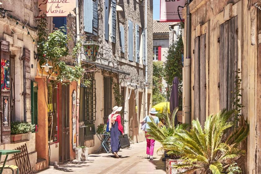 Narrow alleys in Saint-Rémy-de-Provence; Van Gogh Trail in Saint-Rémy-de-Provence