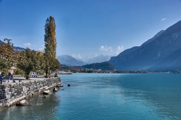 Lake View in Brienz, Switzerland; Autumn in Switzerland