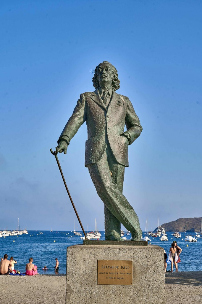 The Sculpture of Salvador Dali on the beach
