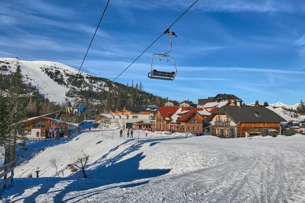 Cable Car station in Katschberg Skiing area, Austria