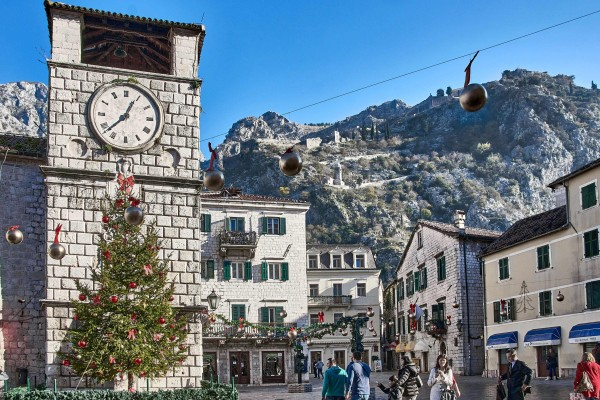 The Clock Tower at the Square of Arms, Kotor Montenegro