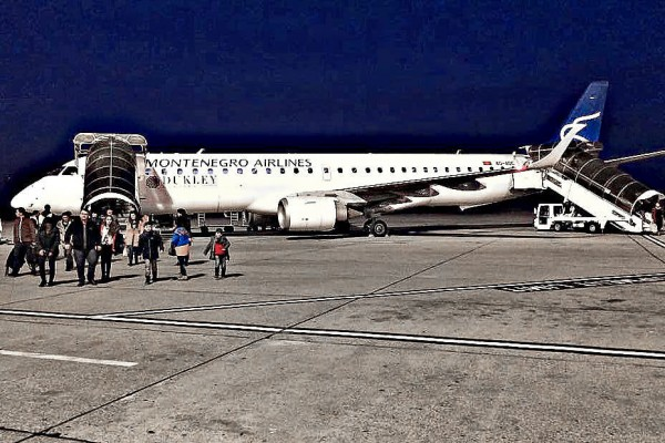 Montenegro Airlines, Podgorica Airport