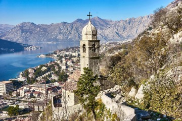 View from the upper walls of Kotor Montenegro