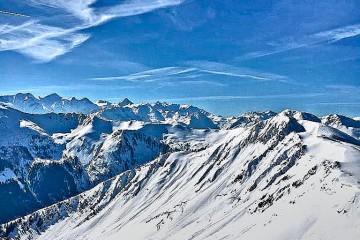 Skiing slopes in Hinterglemm