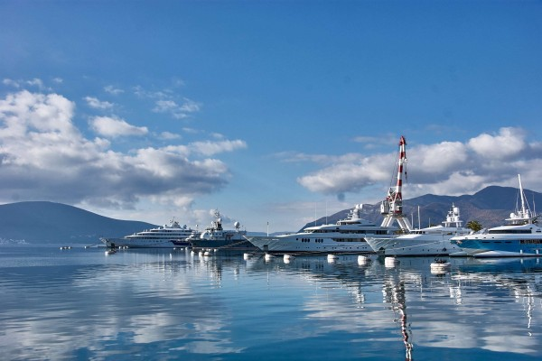 Superyachts in port Montenegro
