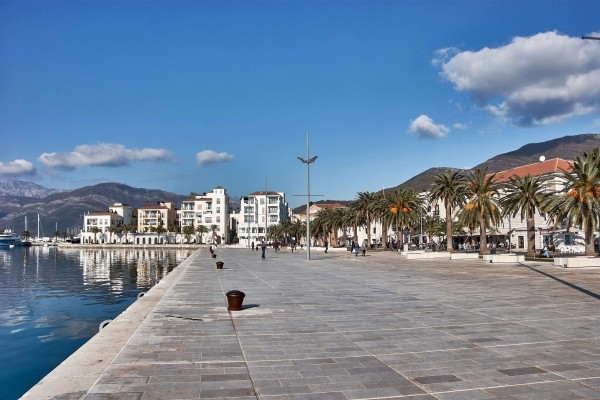 View of promenade of Tivat