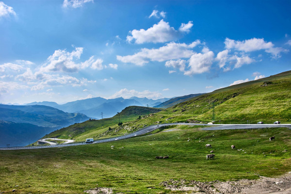 Mountain view of Andorra la Vella; the Pyrenees itinerary