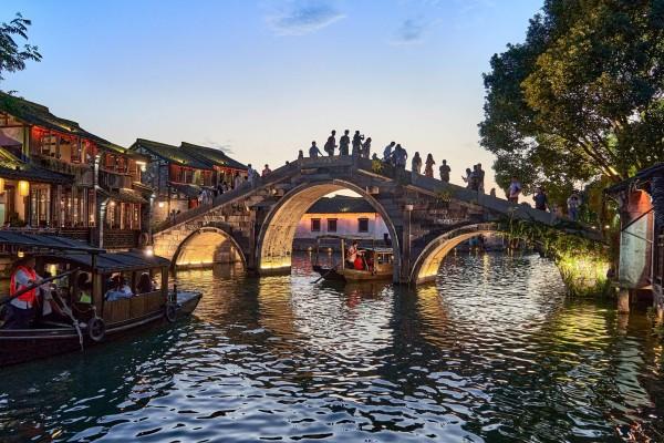 Wuzhen Ancient Water Town at Dawn
