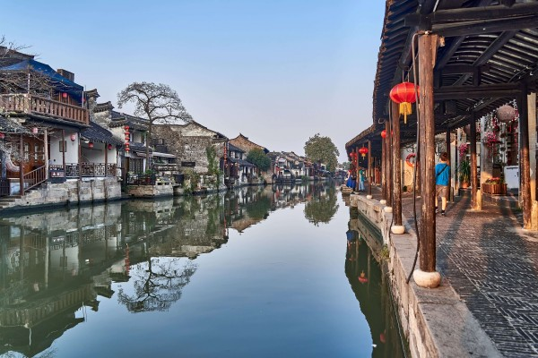 Sunset in Xitang ancient Water Town