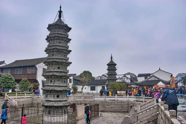 Two Towers in Nanxiang Ancient Water Town