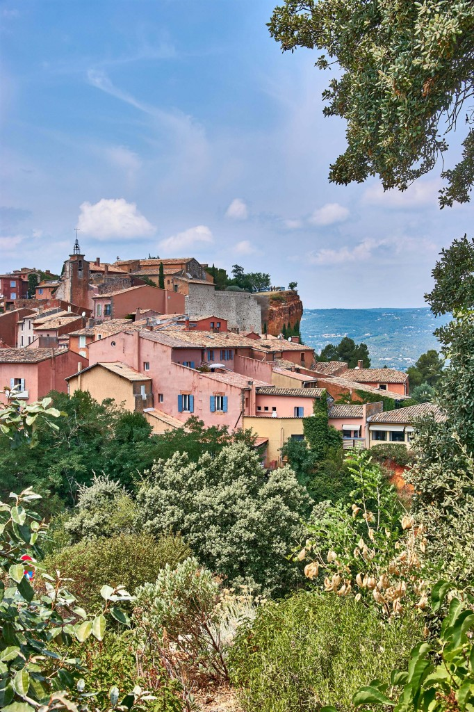 View of the Hilltop Village Roussillon , Provence