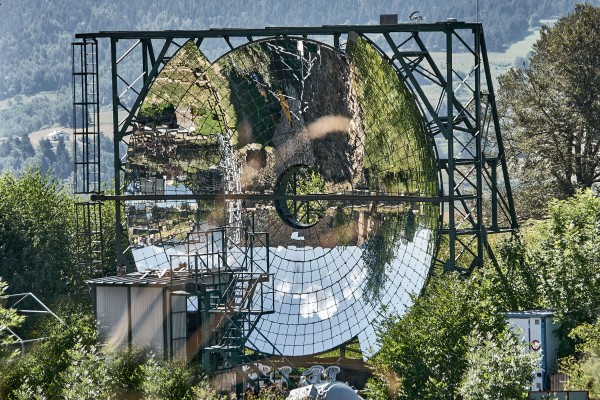 Solar furnace in Mont Louis, Pyrenees, France