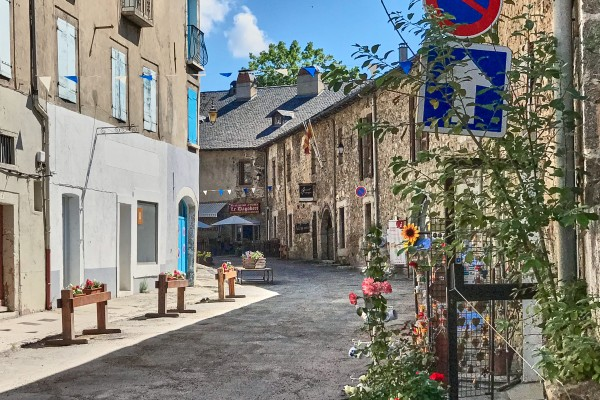 The street scene in the highest walled town in France