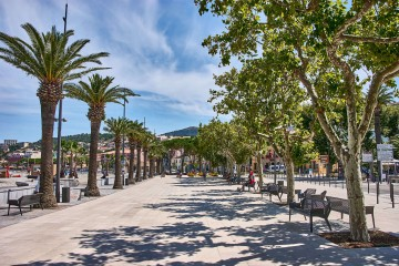 Beach Promenade a Quiet French Coastal Town famours for its wines