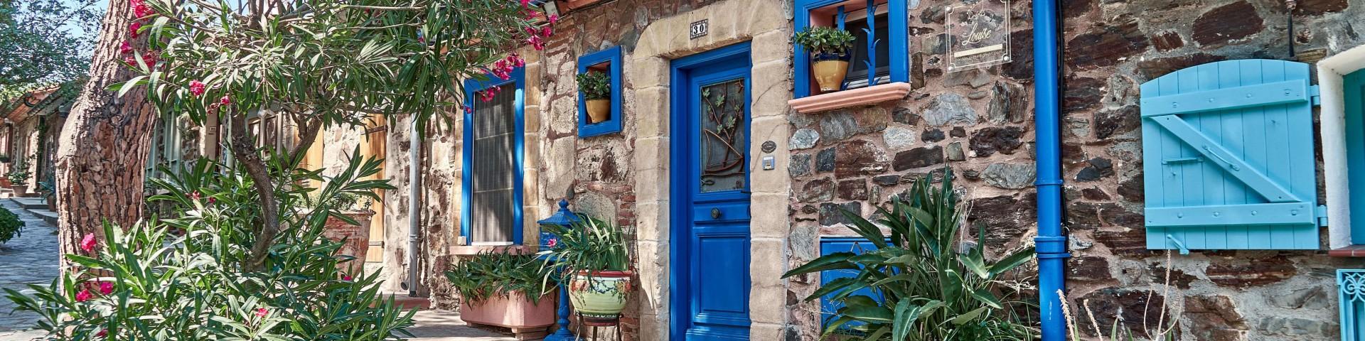 Rue Bellevue, a quiet living quarter in Collioure