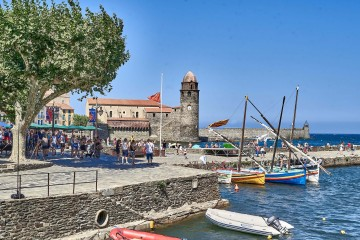 Notre-Dame-des-Anges and its bell tower, Collioure, France