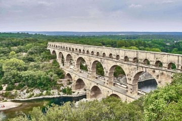 View of Pont Du Gard in the distance