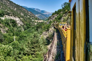The Scenic Yellow Train Ride Through the French Pyrenees
