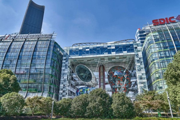 The Music Plaza; Shanghai Riverside Promenade, Hongkou district