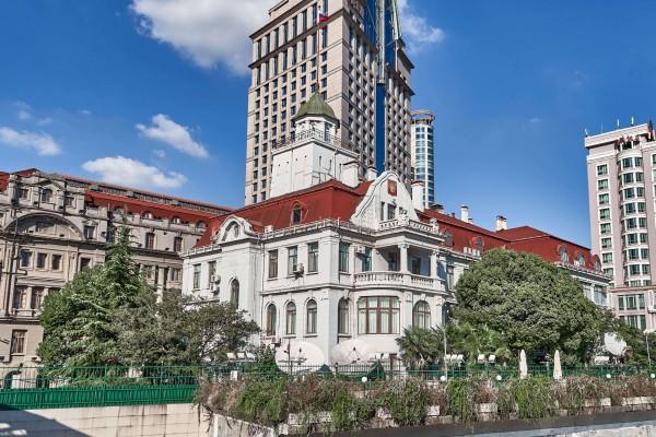 The building of Russian Consulate in Shanghai; Shanghai Riverside Promenade, Hongkou district