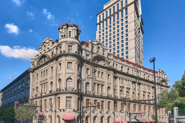 The Astor House Hotel in Shanghai; Shanghai Riverside Promenade, Hongkou district