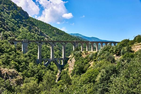 Pont Séjourné, the stone arch railway bridges in Pyrénées-Orientales