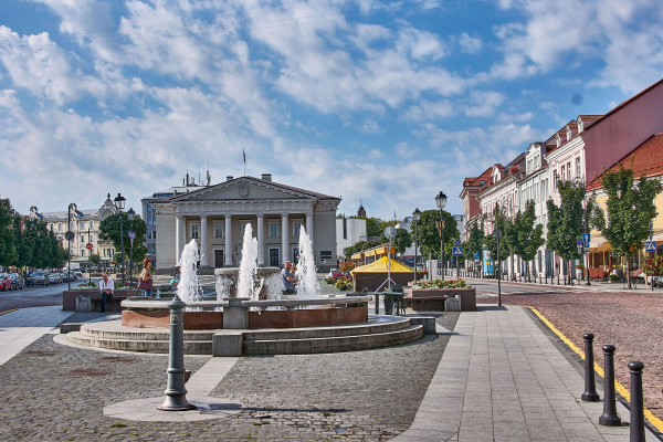 Architectural building in the old town of Vilnius, Lithuania; Baltic Road Trip Itinerary
