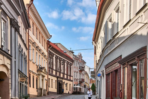 Street of Vilnius in the early morning; Baltic Road Trip Itinerary