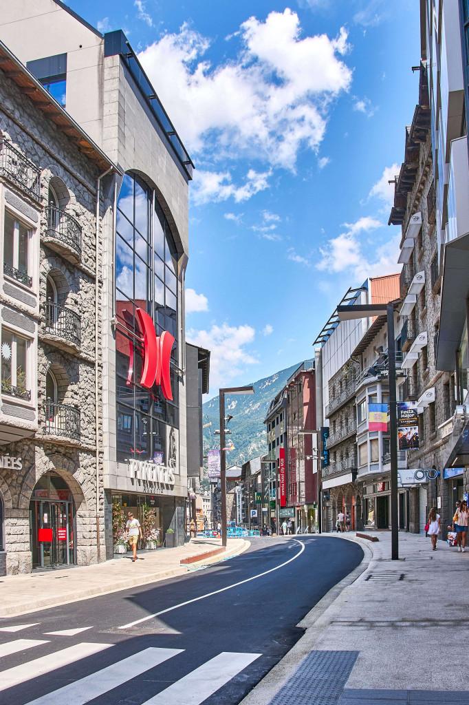 Shopping street in Andorra la Vella