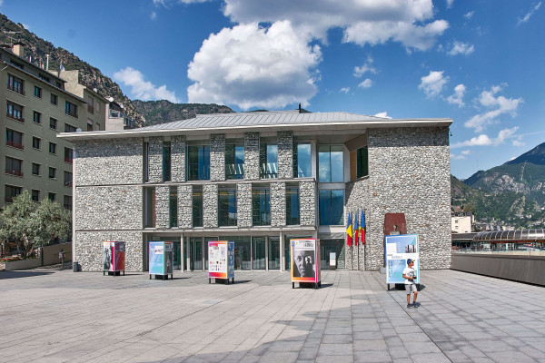 new parliament building in one of the smallest states in Europeof Andorra