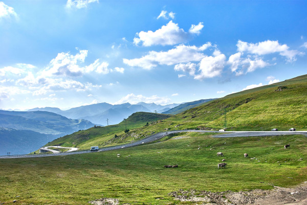 The Pyrenees' mountain view