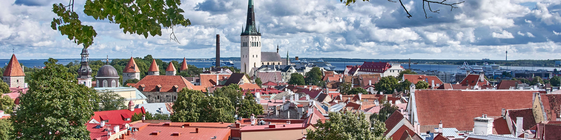 View from the Kohtuotsa viewing platform north-east of the Toompea Castle; Baltic road trip itinerary
