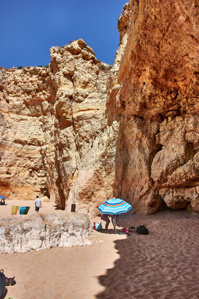 The secluded beach, Praia do Carvalho, Portugal