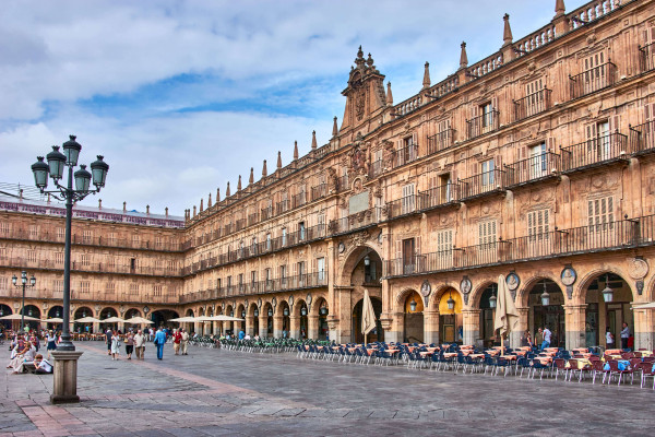 Plaza Mayor in Salamanca; Stopover during the The Two-Week Road Trip to Portugal