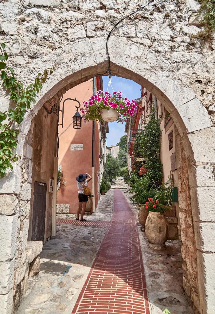 La Turbie; narrow alleyways in Provençal Villages;