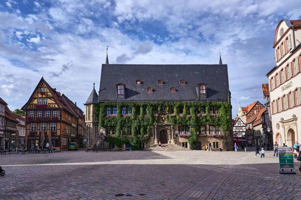 Itinerary in Germany's Harz Mountains; Quedlinburg Old Town Hall