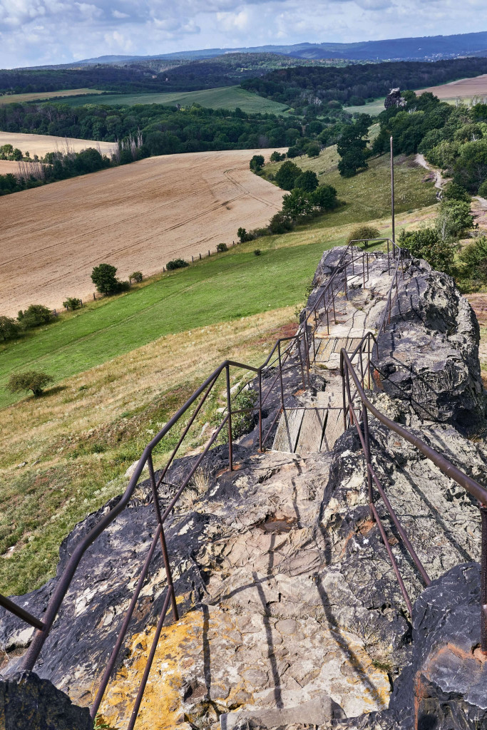 Gegensteine near Ballenstedt (part of Evil's Wall); Counter Stone; Itinerary in Germany's Harz Mountains