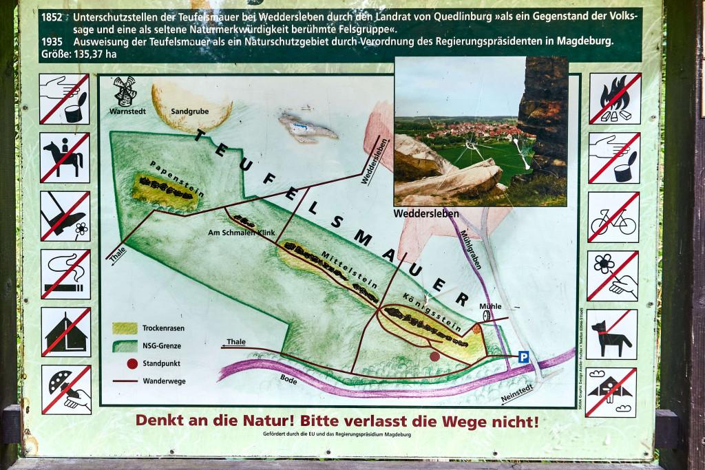 Teufelsmauer; Königstein at Weddersleben