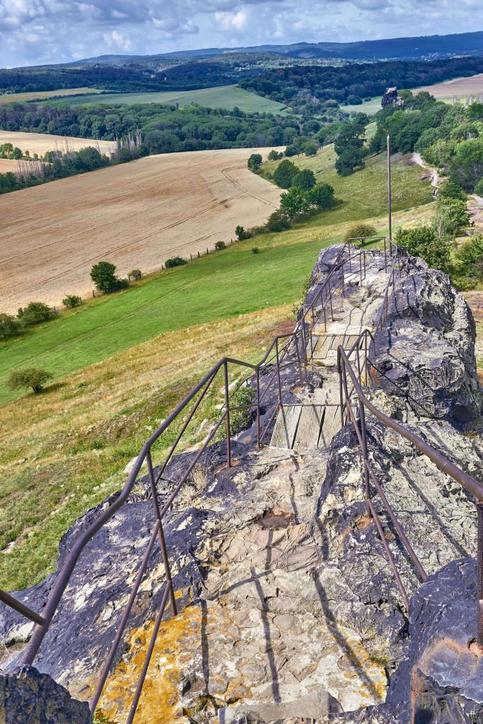"""• Gegensteine (""""Counter Stones"""") near Ballenstedt; Devil's Wall in the Harz Mountains"""