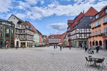 The Market Square of Quedlinburg; Harz Mountains