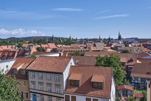 Rooftop view from the Quedlinburg Castle Hill