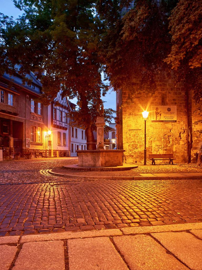 Evening scene in the historic centre
