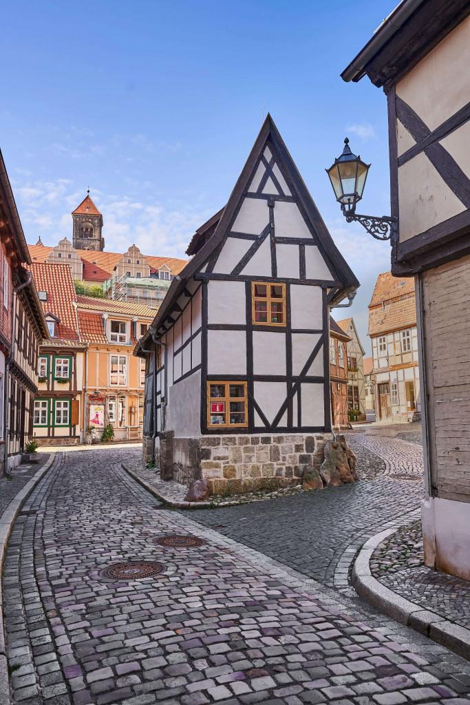 Finkenherd Quarter in the Old Town of Quedlinburg