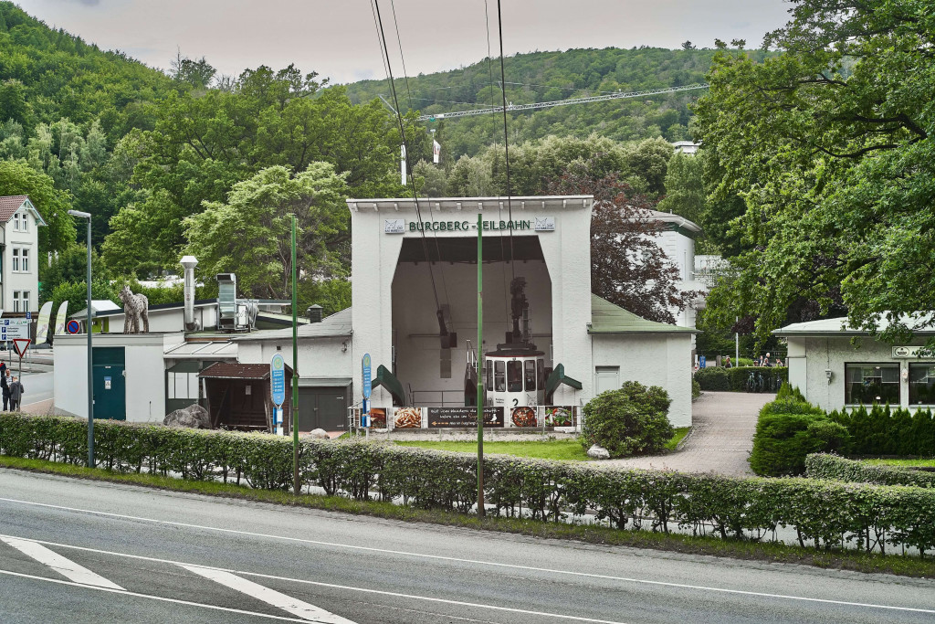 the cable car valley station (Burgbergbahn) in Bad Harzburg