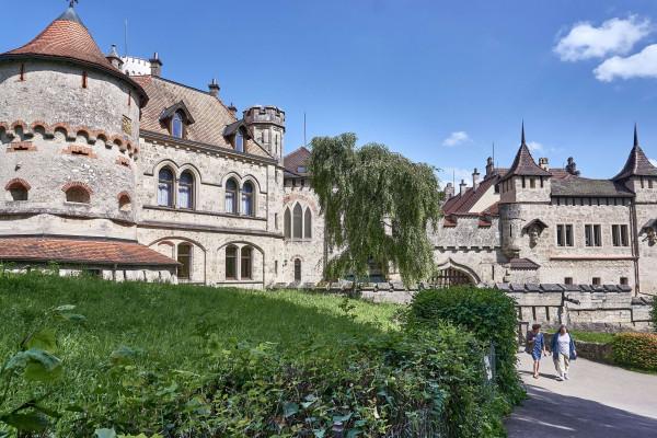 Entrance View of the Hohenneuffen Fortress Ruins (Burg Hohen Neuffen); Schwäbisches Alb itinerary
