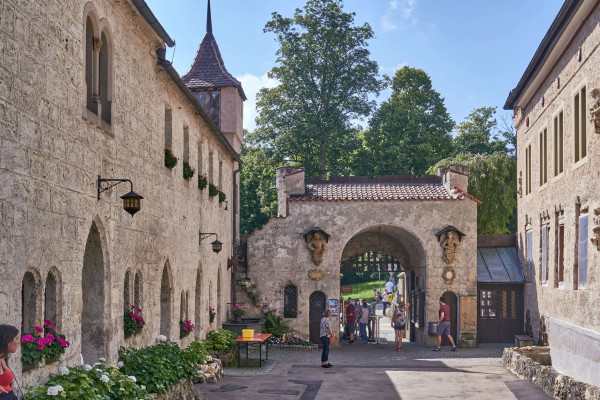 Entrance of the Hohenneuffen Fortress Ruins (Burg Hohen Neuffen); Schwäbisches Alb itinerary